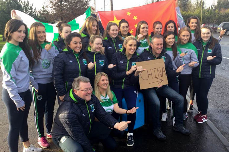 Shane O'Neill's ladies are all ready for their historic China trip.