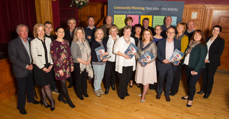 Delegates from the Voluntary and Community sector that attended the launch of Newry, Mourne and Down's first Community Plan, 'Living Well Together'.