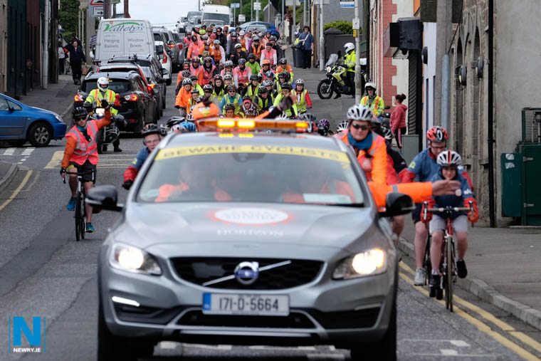 The 2017 Cycle Against Suicide travels down Canal Street in Newry. Photograph: Columba O'Hare/ Newry.ie