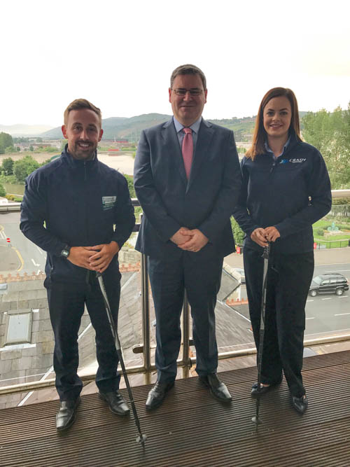 James McCaffrey (Regional Marketing Officer SAHS), Jonathan McKeown (CEO of CRASH Services) & Eadaoin McCann (CRASH Services Marketing & Operations Executive) launch Donard Day.