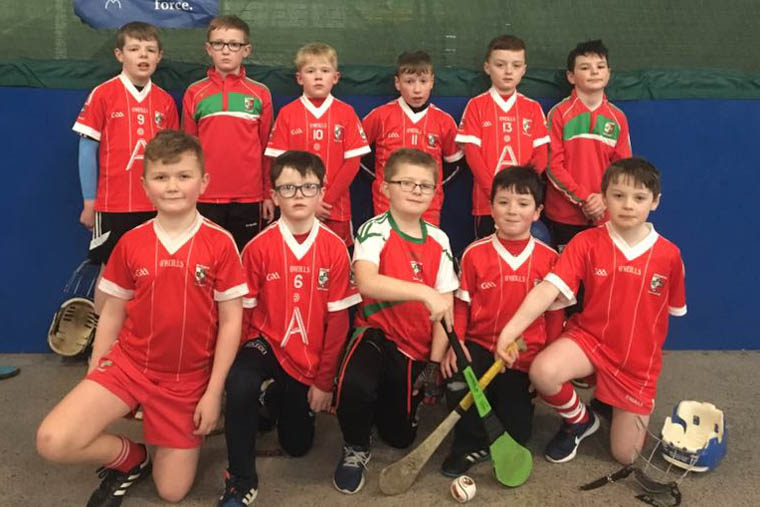 Craobh Rua U10 Hurlers who played in the recent Winter Blitz Games in Dundalk