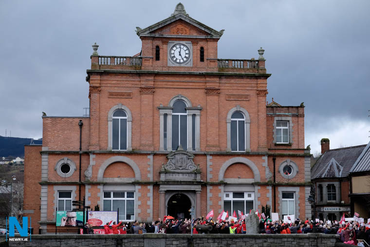 An Irish Language campaign at Newry Town Hall earlier this year. Photograph: Columba O'Hare