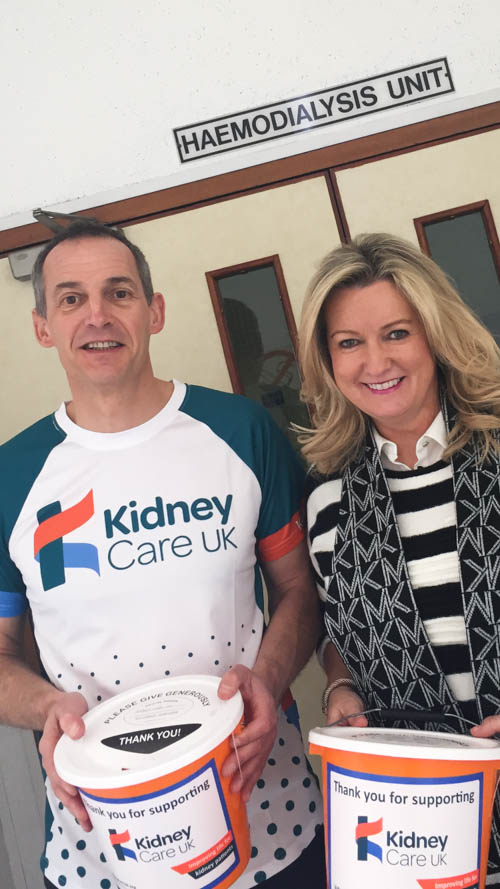 Dr John Harty, Consultant Nephrologist at Daisy Hill Hospital, Newry with Jo-Anne Dobson, Organ Donation Charity Ambassador.  Dr Harty is supporting the work of Team Kidney Care UK by cycling the 229km of The Tour of Flanders in Belgium.