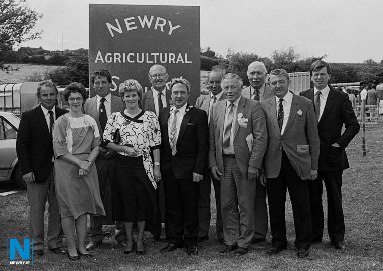 The Newry Agricultural Show Committee in the 1980's. Photograph: Columba O'Hare/ Newry.ie