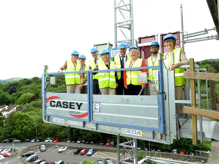 The Project Team for Daisy Hill Hospital's Paediatric Unit gave members of Trust Board a tour to see progress on the new unit at Daisy Hill.