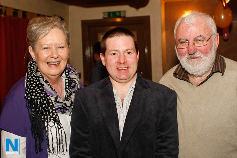 Tony Dolaghan with his parents Aileen and Frank. Photograph: Columba O'Hare/ Newry.ie