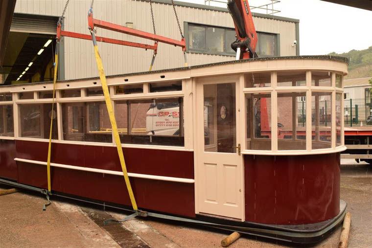 The restored Bessbrook and Newry Tramway tram