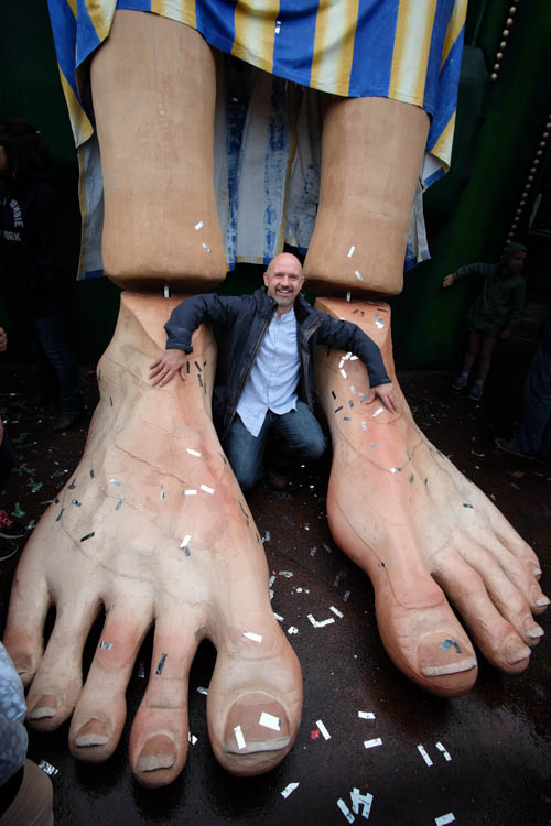 The Feet of Finn at the Wake the Giant Festival in Warrenpoint. Photograph: Columba O'Hare