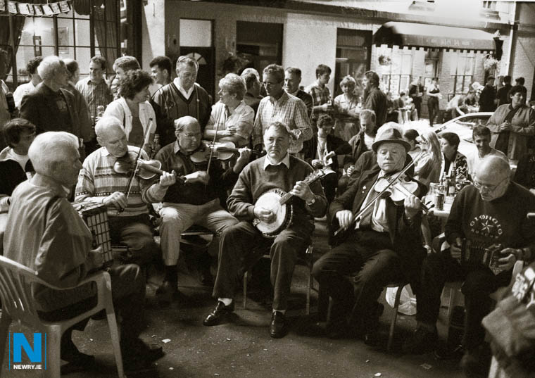 The Ulster Fleadh in Castlewellan in the 80's. Photograph: Columba O'Hare/ Newry.ie