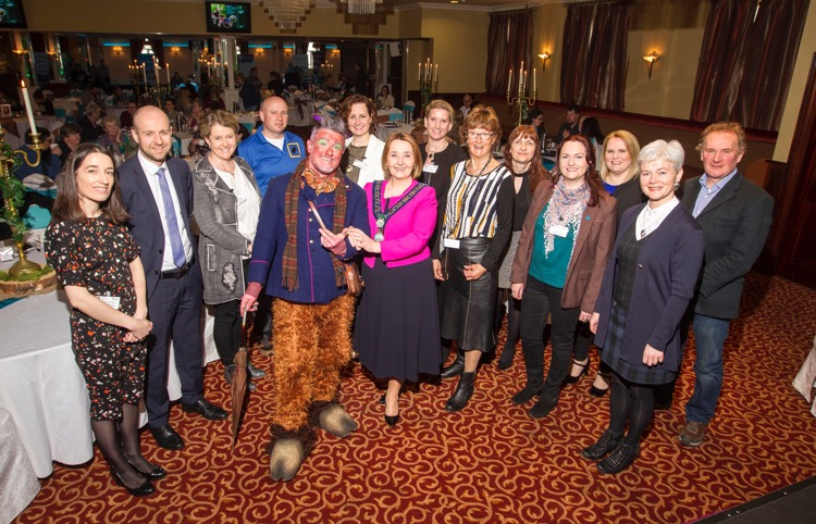Chairperson, Councillor Roisin Mulgrew with speakers at Newry, Mourne and Down District Council's Mountains, Myths and Maritime Industry Day.