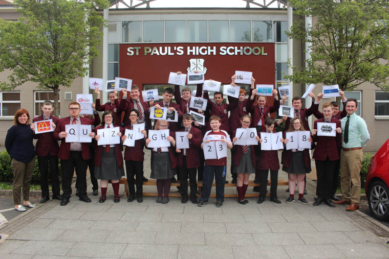 Staff and Pupils from St Paul's get ready for the Fundraising Night.