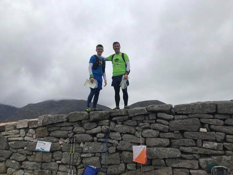 David & Charles Burns ready for setting off on the Mourne Mountain Marathon Score Event