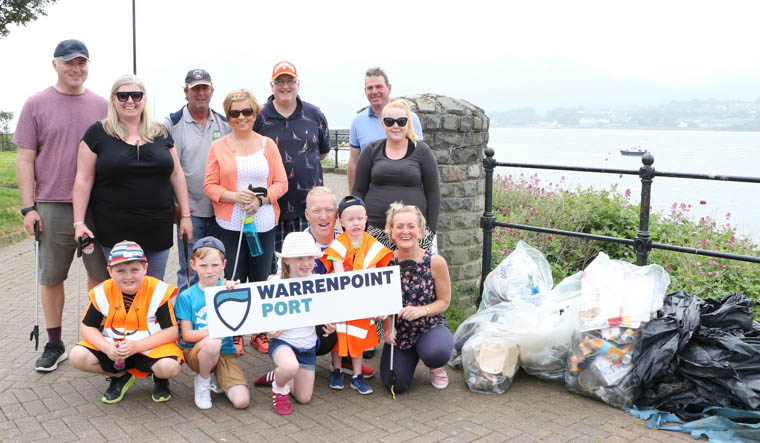 Volunteers from Warrenpoint Port spent Saturday cleaning up the areas beaches.