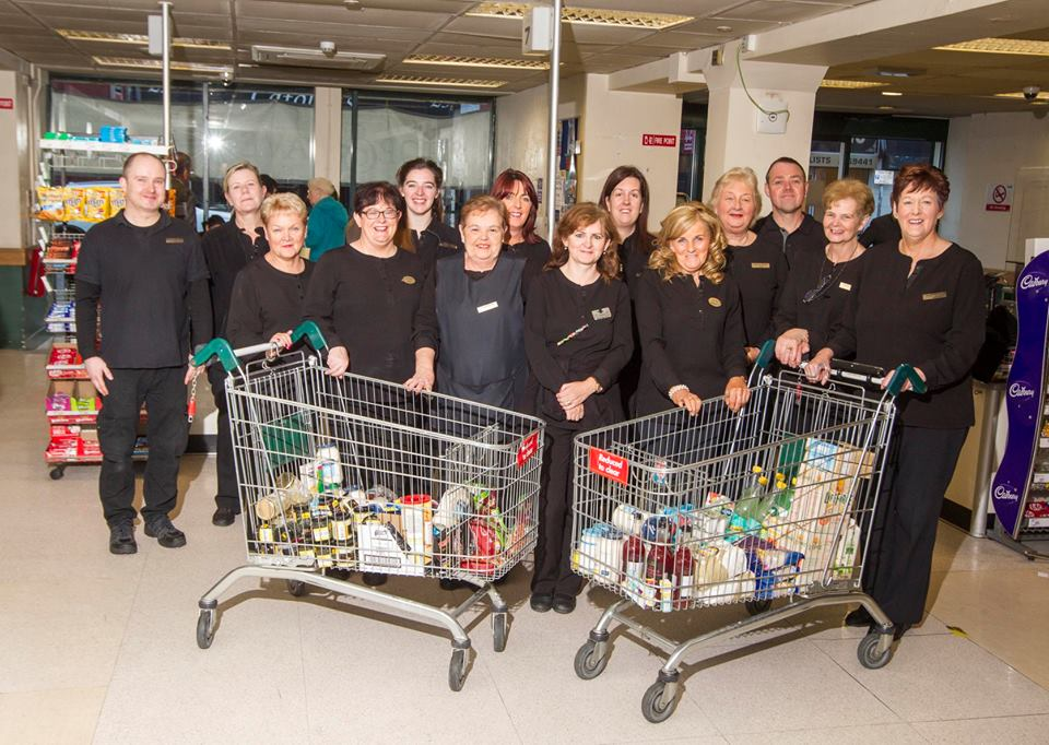 Staff at Dunnes Stores, Hill Street, Newry.