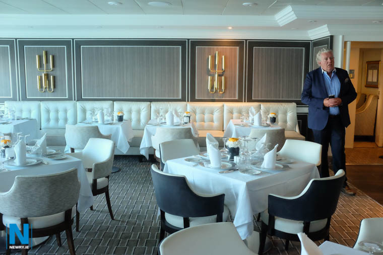 Fine dining on the Azamara Pursuit! - MJM founder Brian McConville in one of the refurbished restaurants on board. Photograph: Columba O'Hare/ Newry.ie