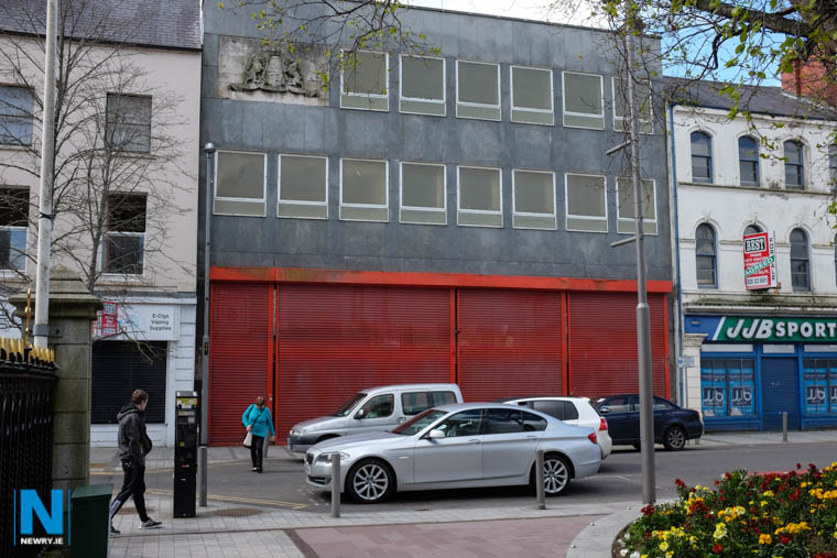 The former Hill Street Post Office in Newry where proposals have been lodged to build apartments and retail units. Photograph: Columba O'Hare/ Newry.ie