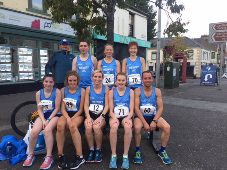 Newry AC Team at the Mill Hill Race in Castlewellan