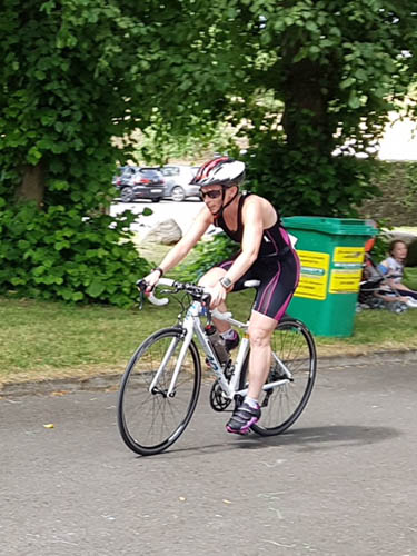 Sarah Jane Beattie in action at the Muckno Triathlon in Monaghan