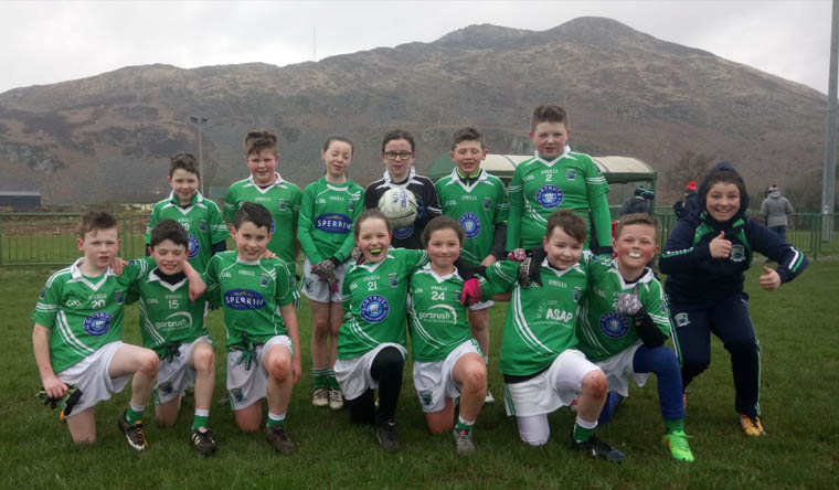 Shane O'Neill's U10's at their game with Forkhill on Sunday