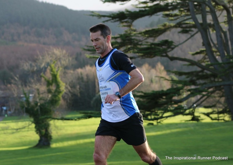 Jonny Gregg in action at the Born2Run 10k Trail Race in Kilbroney