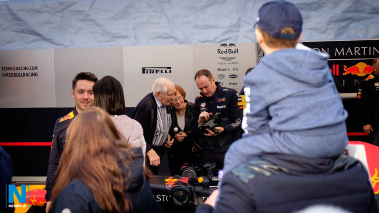 The Aston Martin Red Bull Racing ,Formula One Racing Team were on hand in Newry today to proudly show their racing car to the thousands that called by. Photograph: Columba O'Hare/ Newry.ie