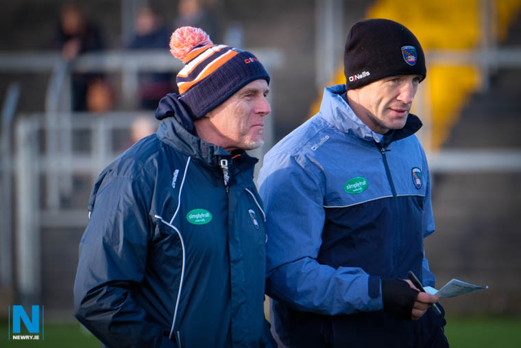 Armagh Manager Kieran McGeeney and assistant Jim McCorry got off to a good start with a win against St MAry's. Photograph: Columba O'Hare/ Newry.ie