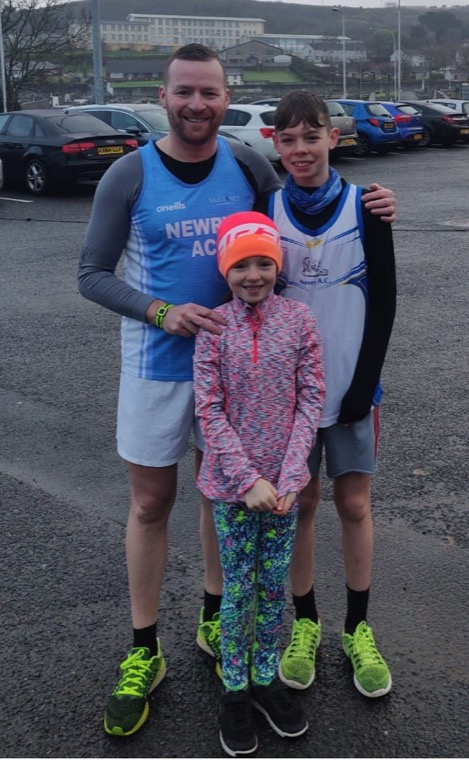 The Patterson family at the Kevin Heaney Christmas Classic Run on Sunday