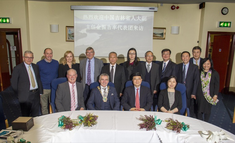 Senior officials from the Jilin Province, China, were welcomed to Newry Council Offices by a delegation from Newry, Mourne and Down District Council and Newry Chamber of Commerce and Trade.