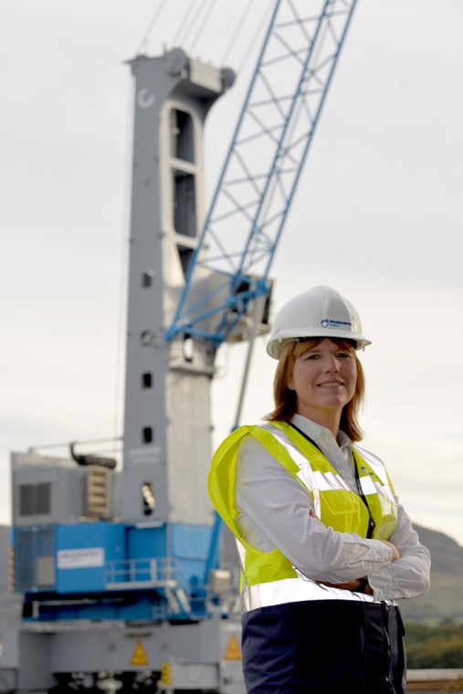 Warrenpoint Port CEO Clare Guinness welcomes the commissioning of a new crane, supplied by Finnish manufacturer Konecranes, which will significantly improve efficiency at the Port.