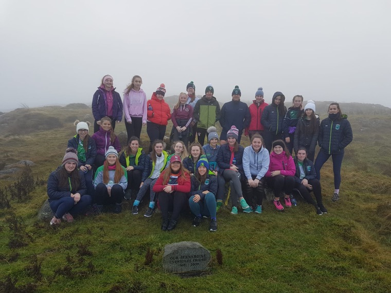 Shane O'Neill's senior ladies began their pre-season with a climb up Camlough Mountain on Sunday morning