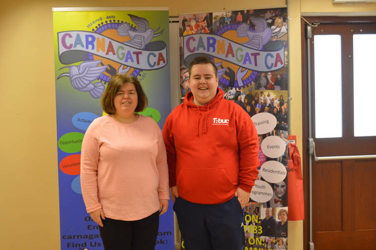 Outgoing Chairperson Paula McGuigan pictured with the incoming Chairperson James Treanor