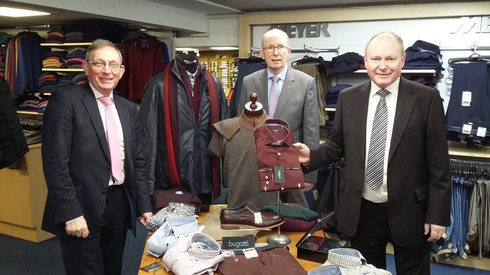 Pat, Francis and Gervase O'Hare on the shop floor.