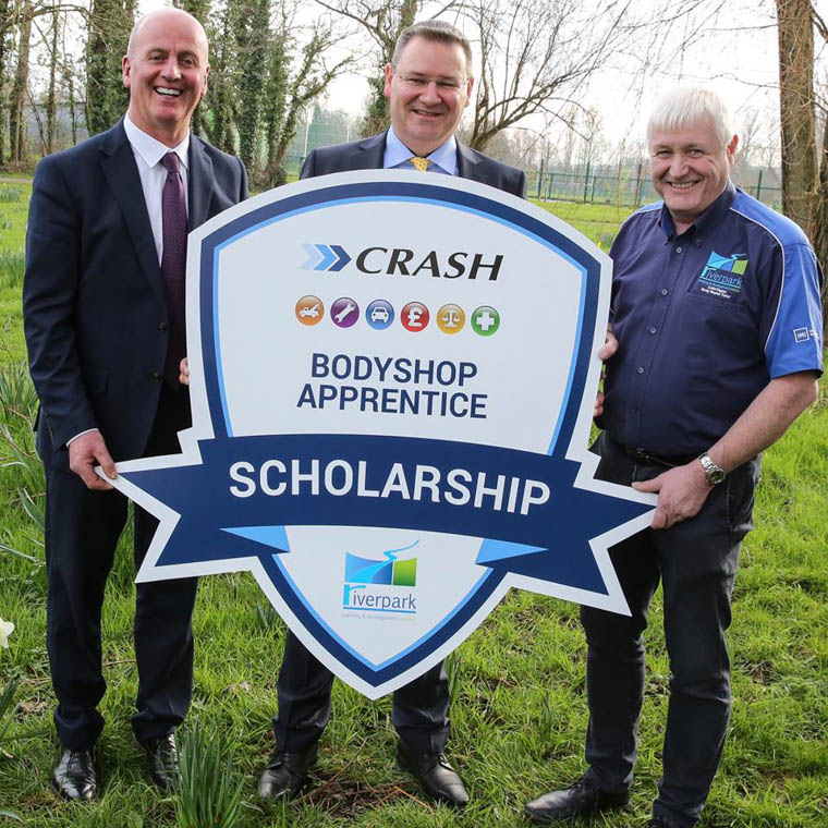 Paul Cooney, Fleet and Repair Director of CRASH Services, Jonathan McKeown, CEO of CRASH Services and Colin Hagan, Managing Director of Riverpark Training
