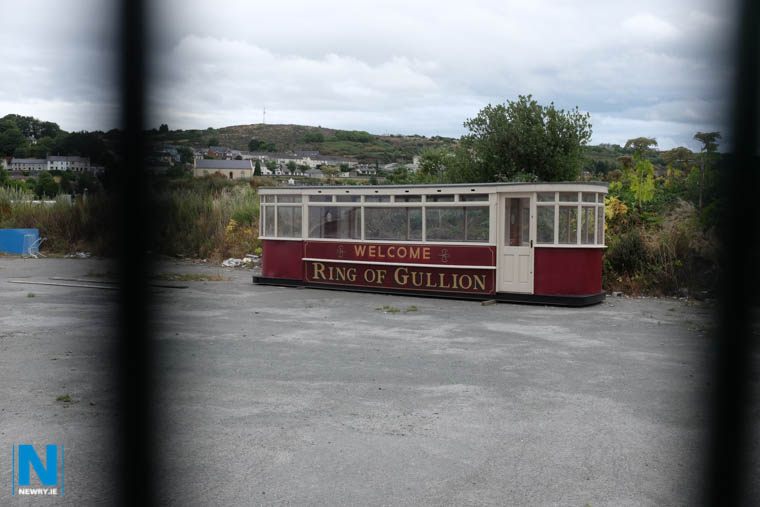 The Bessbrook to Newry Tram carriage which was vandalised recently. Photograph: Columba O'Hare/ Newry.ie