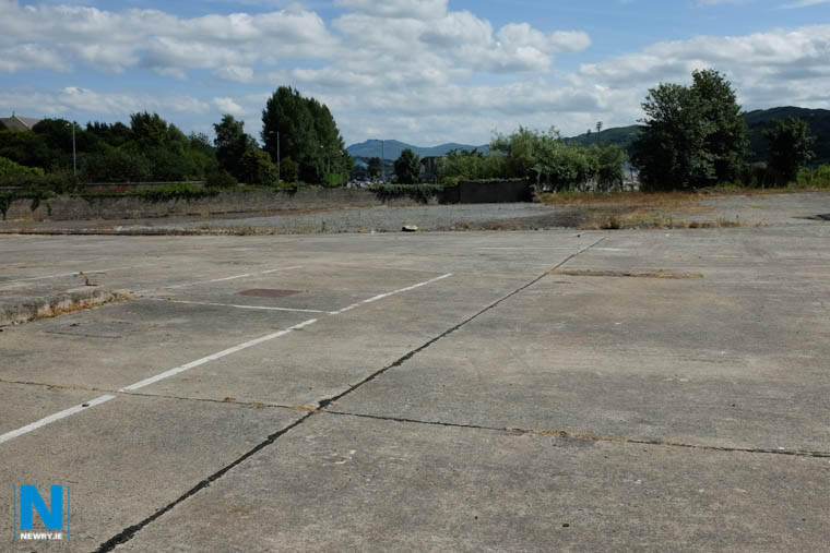 The site of the park at present. Photograph: Columba O'Hare/ Newry.ie