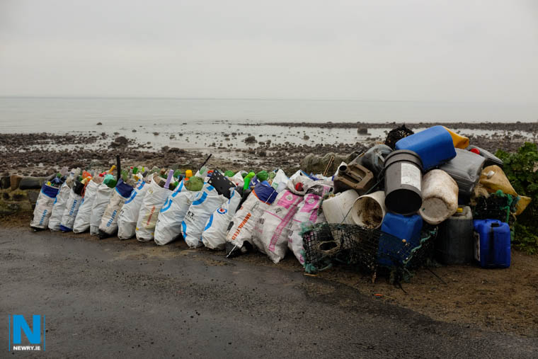 Plastic waste on the County Louth coast. Photograph: Columba O'Hare/ Newry.ie