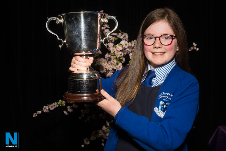 Tara Lundy, Flynn Performing Arts School of Music was the winner of the Kevin Neary memorial cup in the Girls Solo (Under 12) category at Newry Musical Feis. Photograph: Columba O'Hare/ Newry.ie