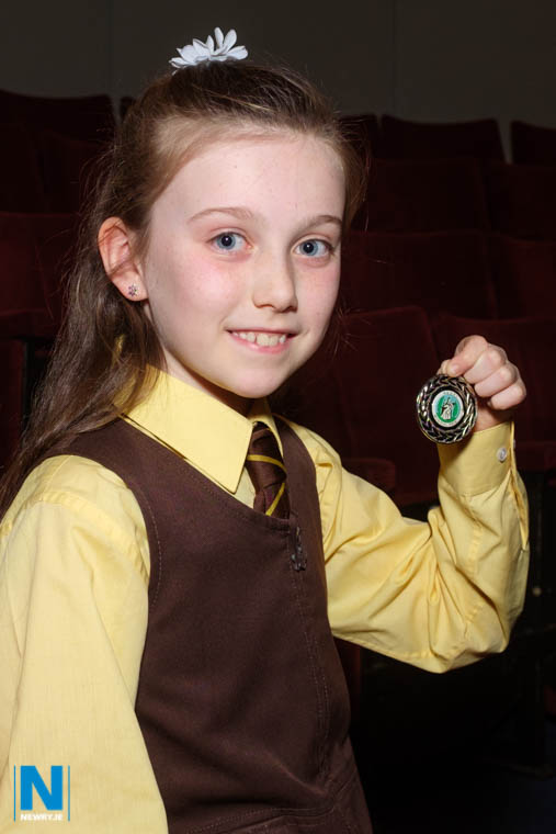 Niamh Noade, St Malachy's Primary School came second in the Girls Solo (Under 12) competition at Newry Musical Feis. Photograph: Columba O'Hare/ Newry.ie