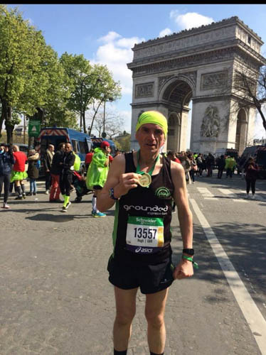 Hugh Morgan at the Paris Marathon.