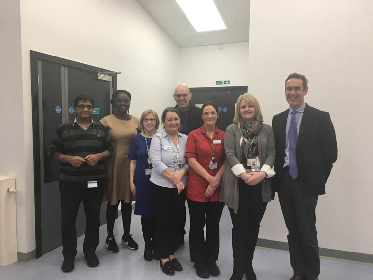 Pictured at the drop in information session for local GPs at the new Daisy Hill Direct Assessment Unit are Dr Billy Masih, Lead Consultant Physician, Dr Olivia Nnami.O., Speciality Doctor, Anne McVey, Assistant Director of Acute Services, Sharon Holmes, Lead Nurse, Sr Grainne McQuade, Aldrina Magwood, Director of Performance and Reform, Dr John Shannon, Rathfriland and Dr Laurence Dorman, Mourne Family Practice.