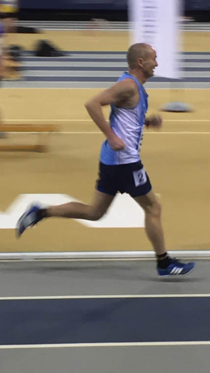 Paul LeBlanc racing in the 1,500m at the Scottish National Open Championships in Glasgow.