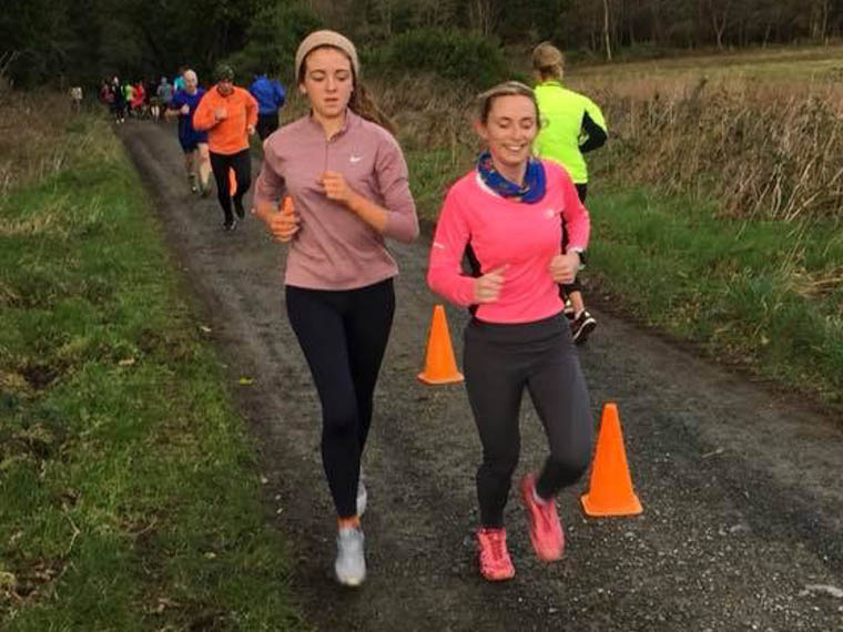 Chloe O'Hare & Sarah Jane Beattie at the Castlewellan Parkrun