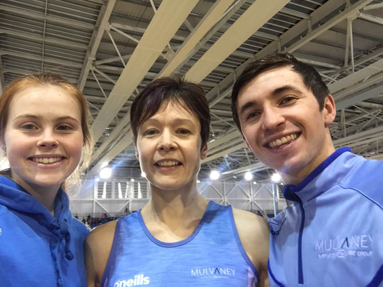 Meadow McCauley, Joanne McCauley & Gary Crummy at the NIA Live Series in Dublin