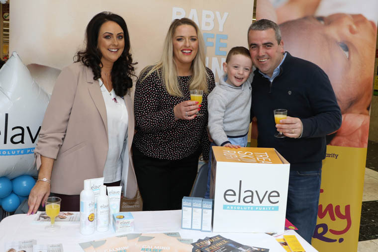 NI premature baby charity TinyLife and Elave Skincare hosted a Sensitive Skincare Showcase at the Medical Hall Pharmacy, Quays Centre, on Saturday. Pictured at the event are Richard Garvey, proprietor, with his son Luke, who was born at 27 weeks; Elave Skincare ambassador Suzanne Quinn of Newry (left); and Karen Johnston of Elave Skincare.
