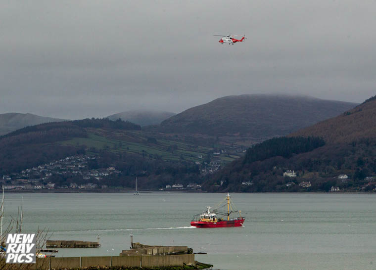 Rescue 116 searches for Ruth Maguire on Monday. Photograph: NewRayPics.com