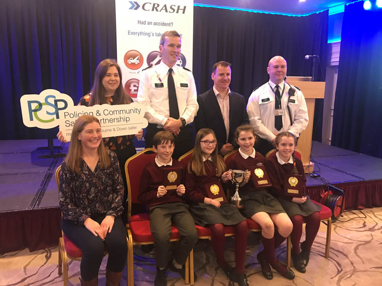 St Patrick's PS, Crossmaglen came top in the local heats of the Road Safety Quiz.