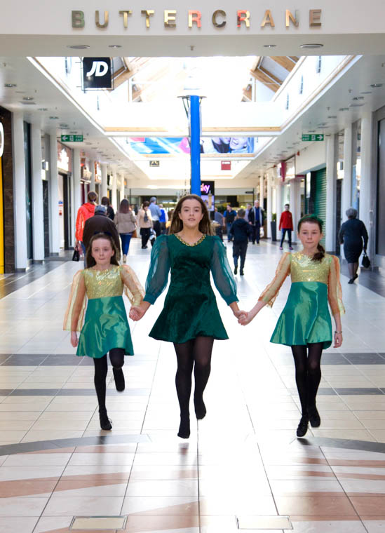 Irish Dancing 4 Fun will be at the Buttercrane from 2 - 3pm on St Patrick's Day.