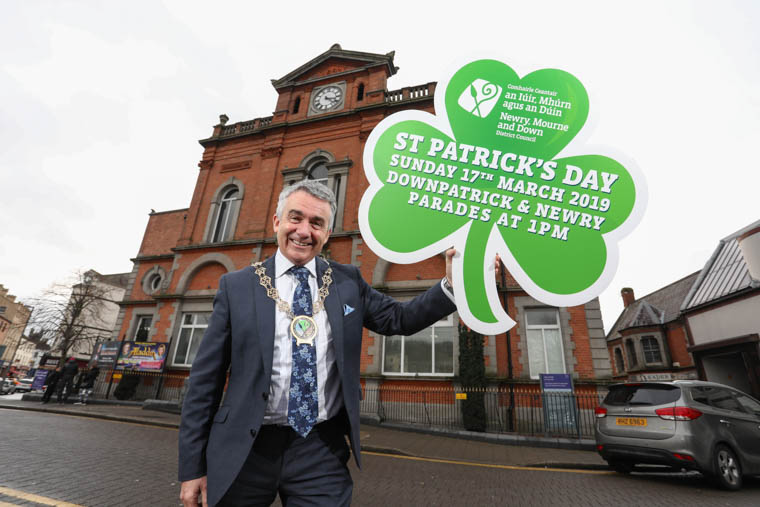 Council Chairman, Cllr Mark Murnin launches Newry St Patrick's Day events programme at Newry Town Hall.
