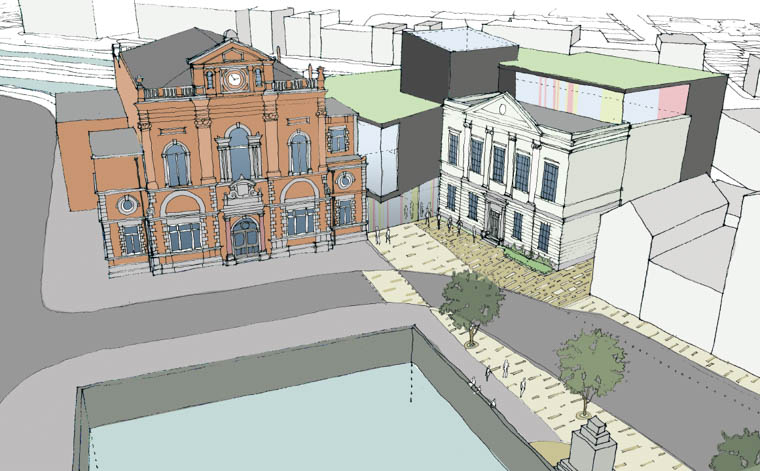 An artists impression of what the new Theatre/ Conference facilities could look like.