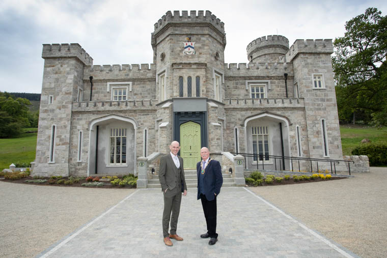 Newry, Mourne and Down District Council Chairperson, Councillor Charlie Casey with Jason Foody, General Manager of Killeavy Castle, this year's venue for the Mountains, Myths and Maritime Tourism Industry Day.